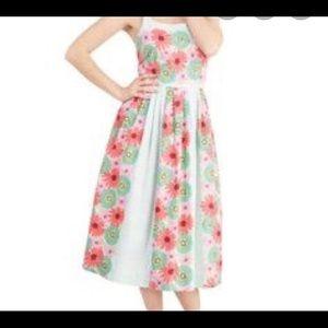 Bea & Dot Modcloth Floral Dress Plus Size